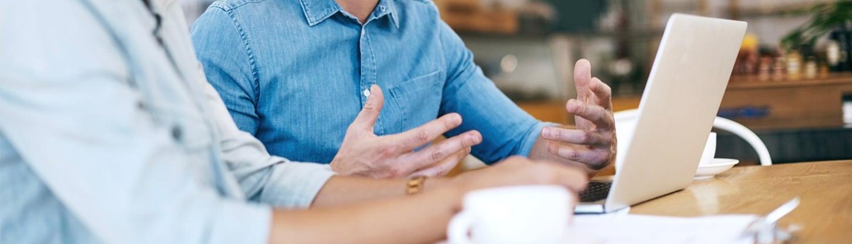 Meeting at a computer