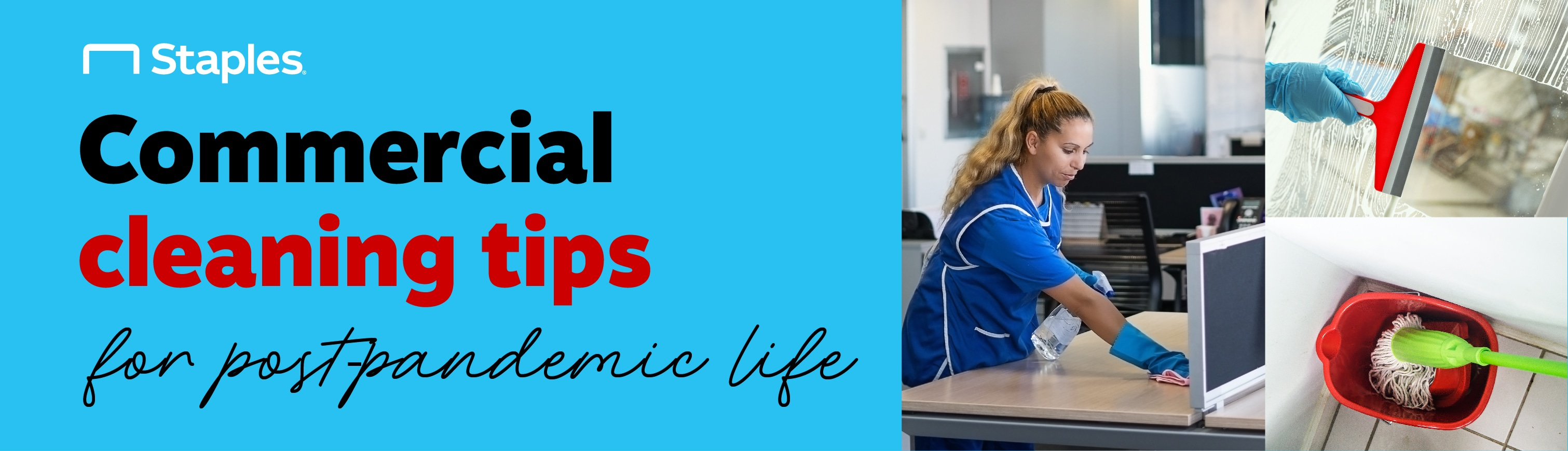 """Alt Banner which reads: """"Commercial Cleaning Tips for Post-Pandemic Life"""""""