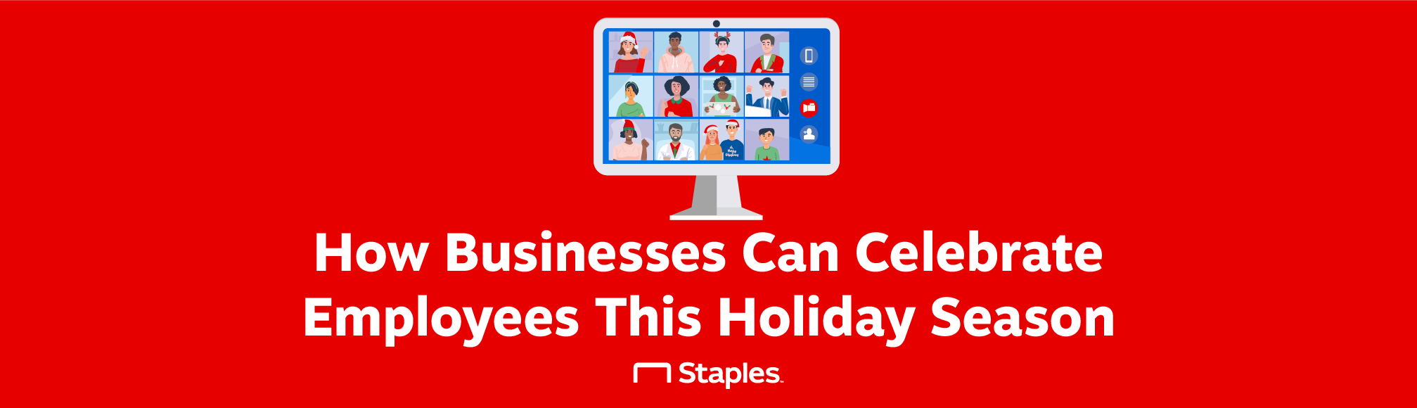 A title graphic introducing ways that businesses can celebrate employees this holiday season.