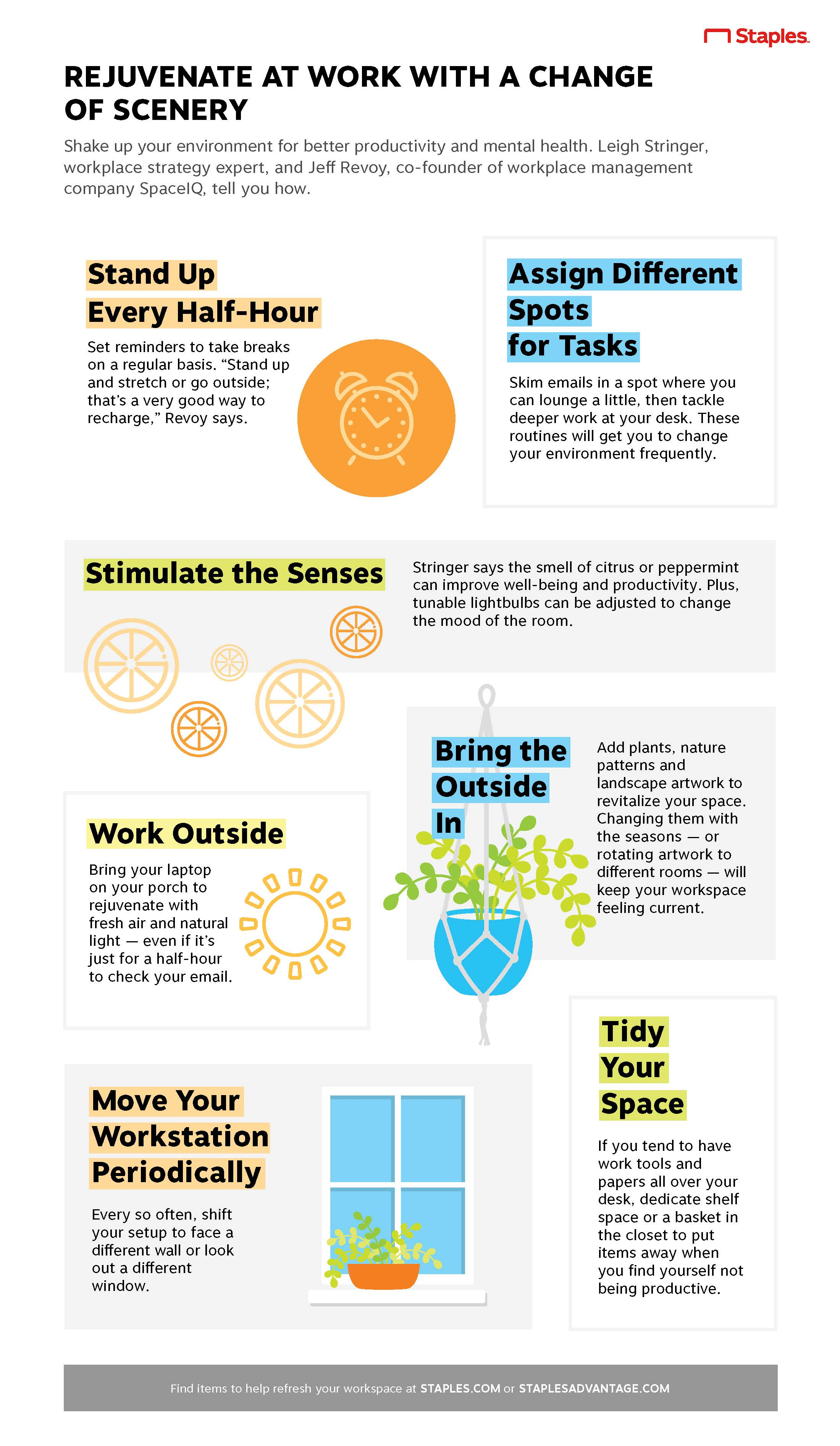 Rejuvenate at Work With a Change of Scenery