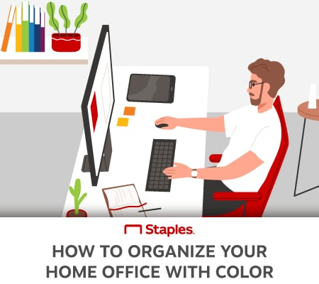 title graphic displaying a home office worker