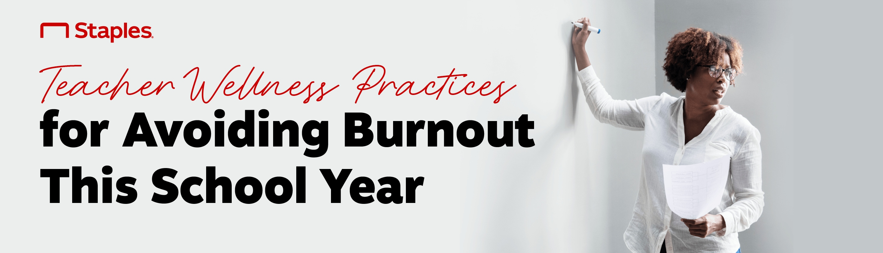 """Banner which reads: """"Teacher Wellness Practices for Avoiding Burnout this School Year"""""""