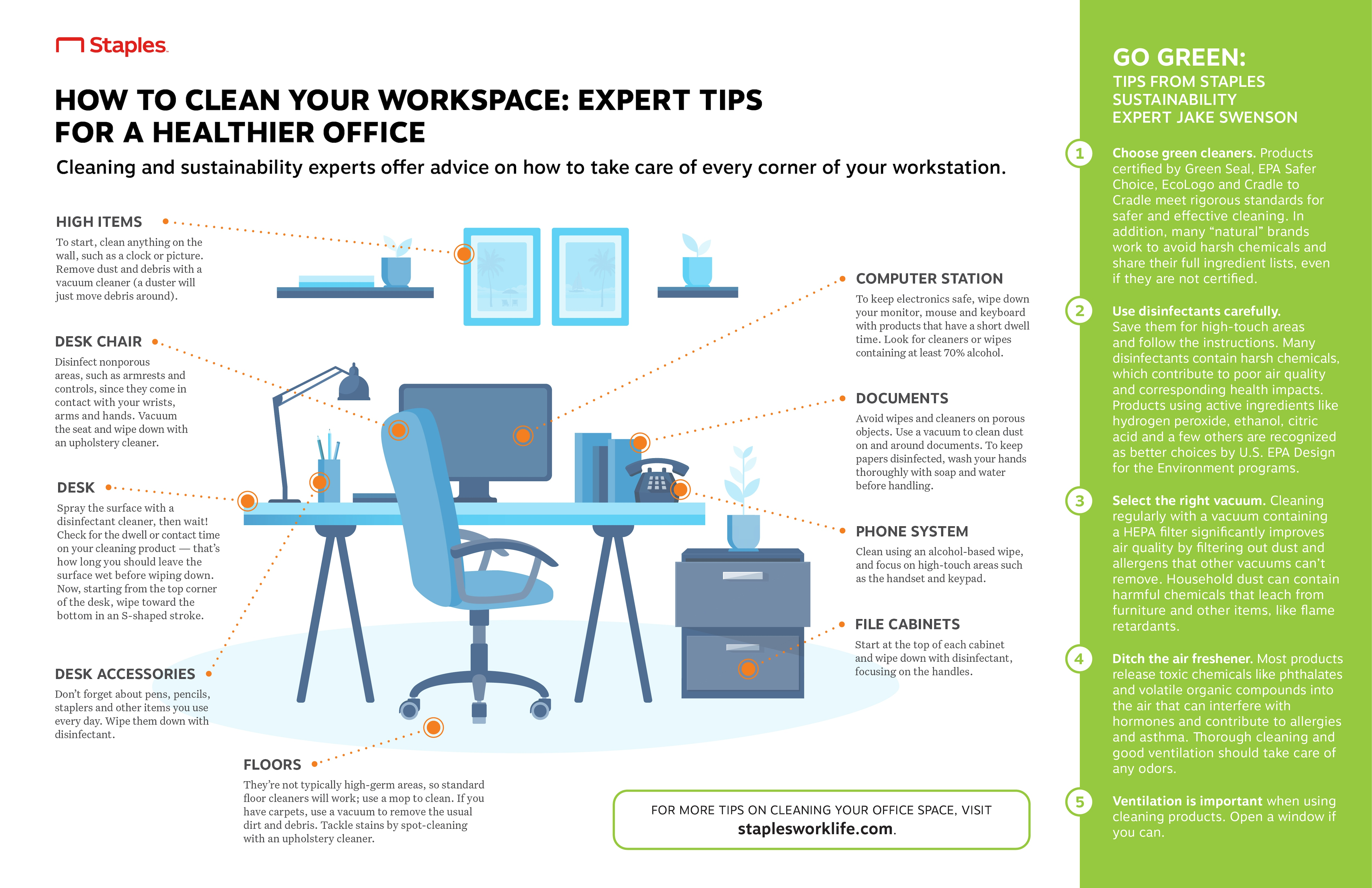 Eco-Friendly Tips for Cleaning Your Workspace